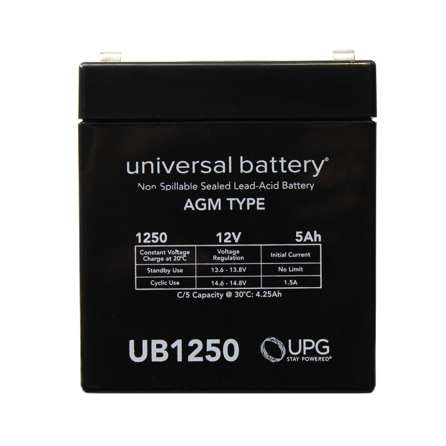 Replacement 12V  5AH UPS Battery for Deltec 750 - UB1250 Back UPS Battery