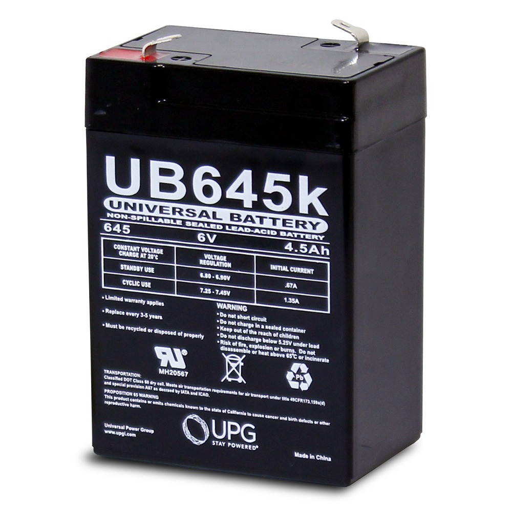 6V 4.5AH SLA Battery replaces elb06042 es4-6 ps-640 gp640