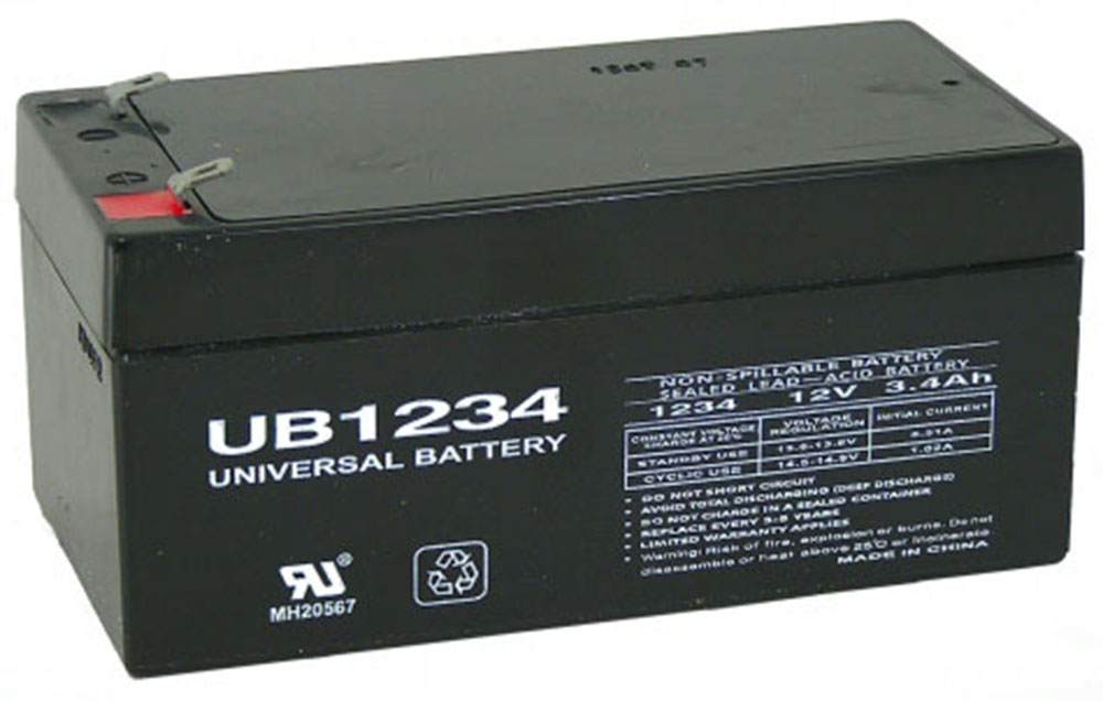 12V 3.4AH SLA Battery replaces ub1234 lc-r123r4p