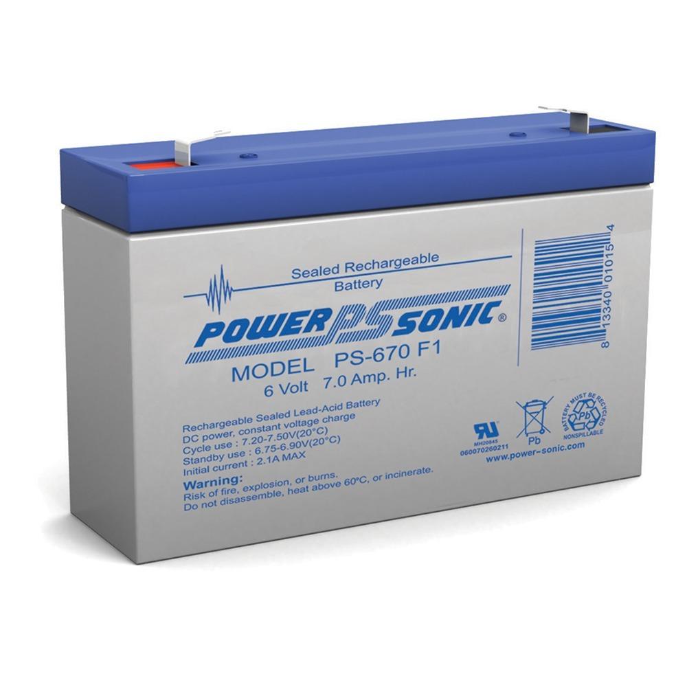 AGM Sealed UB670 6V 7AH Battery Replaces 7.2AH CF6V7 PE6V7.2F1 SLA0925 CA160