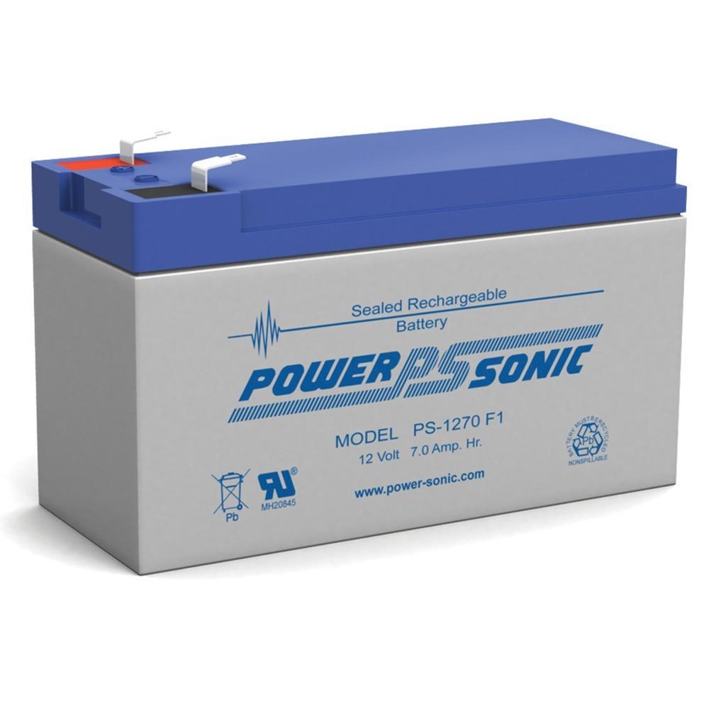 12V 7AH Sealed Lead Acid (SLA) Battery - T1 Terminals - for ZB-12-7.4
