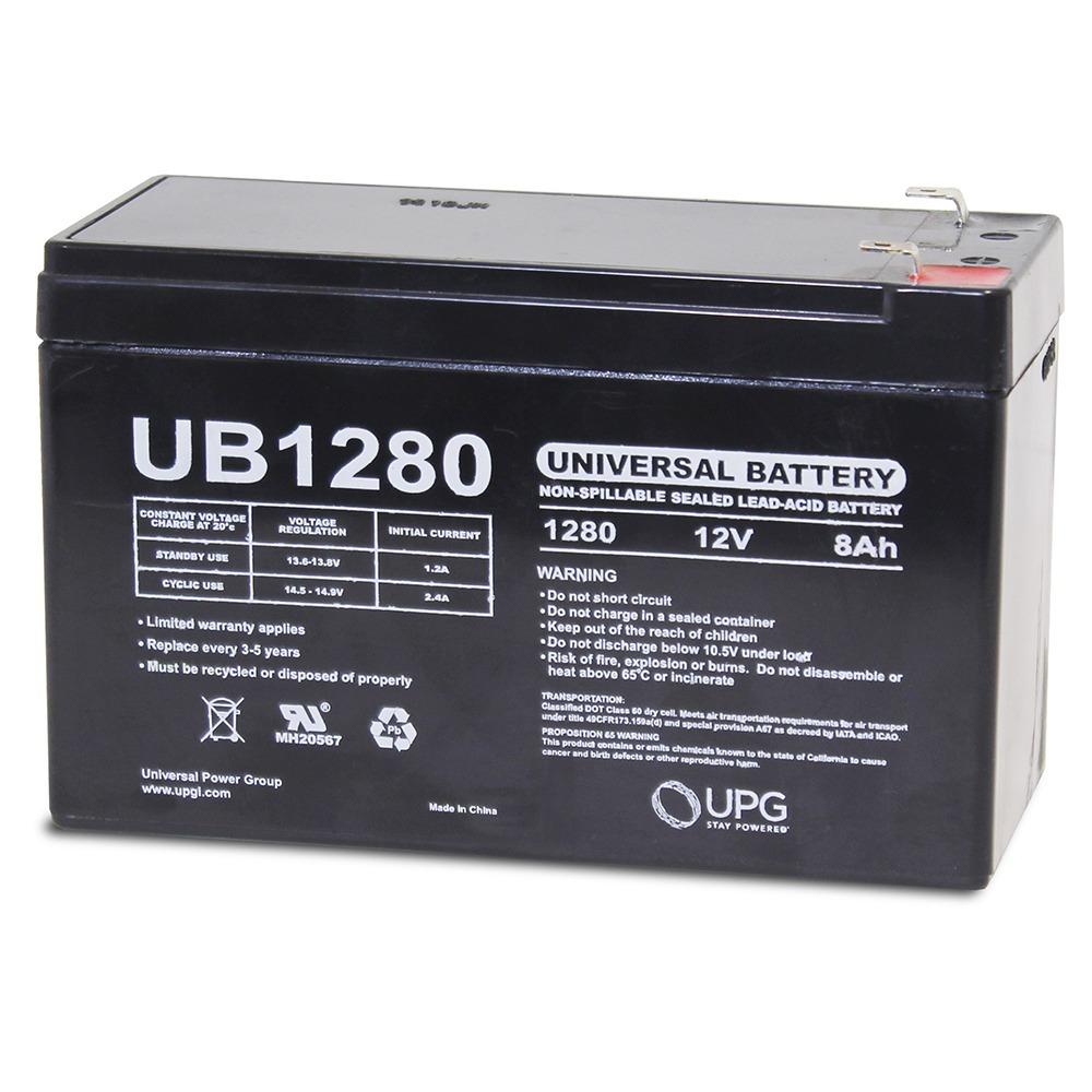 12V 8AH Sealed Lead Acid (SLA) Battery - T1 Terminals - for ZB-12-8