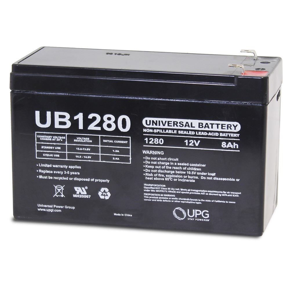 12V 8AH SLA Battery Replaces ep1234w