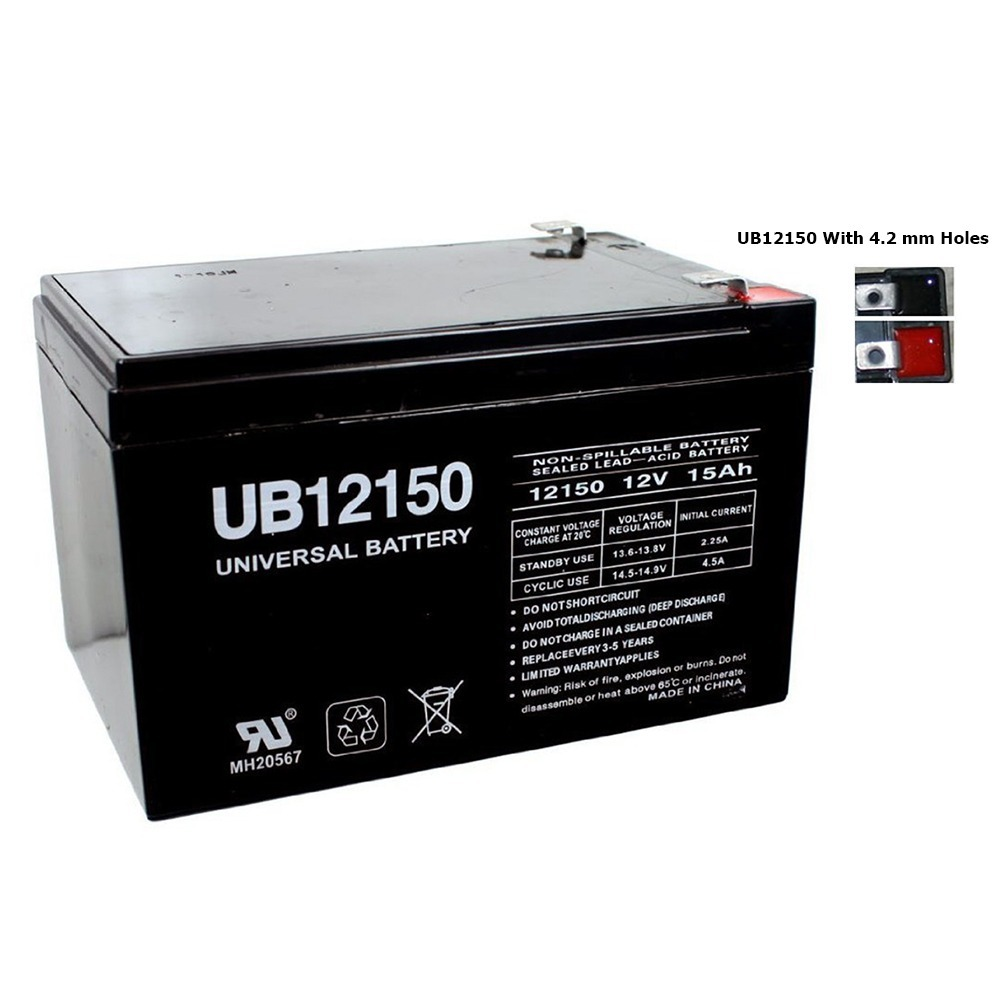 UB12150T2 12V 15AH Motorino Xpe Electric Scooter Battery
