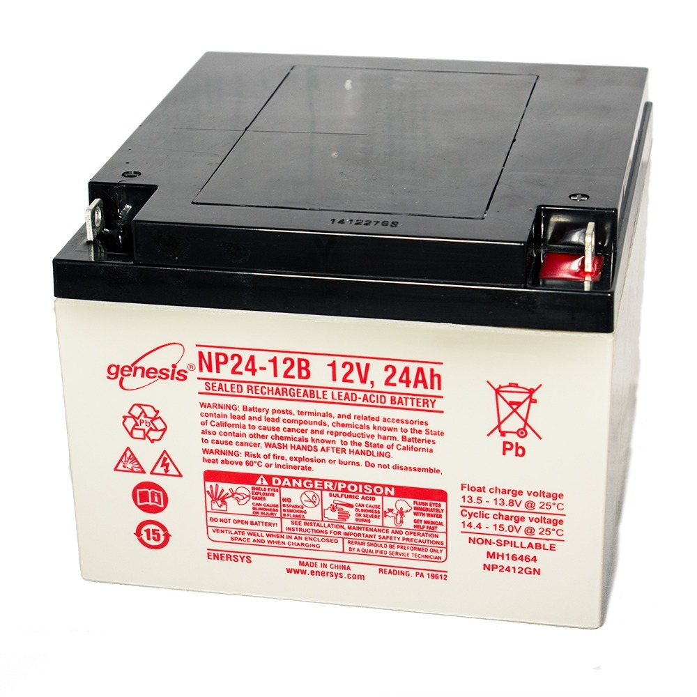 Genesis 12V 24Ah Battery Replacement for Rhino SLA24-12