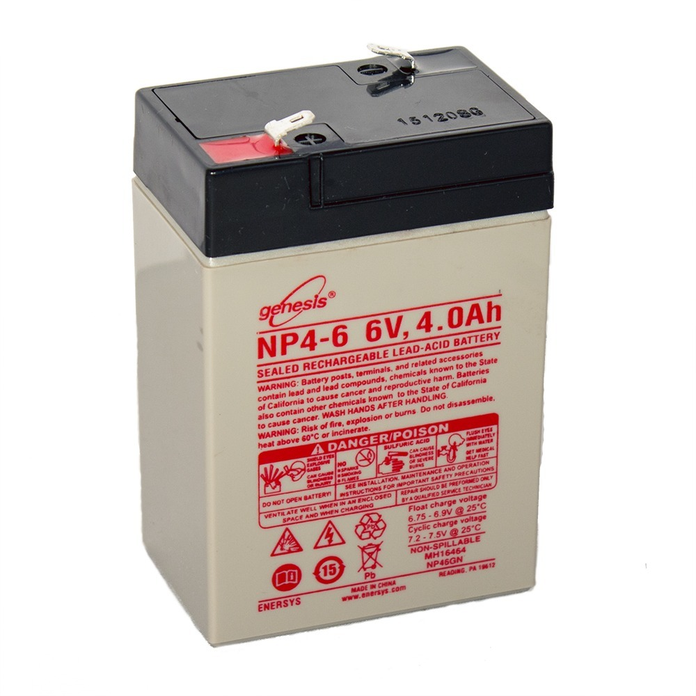 Genesis 6V 4AH Battery Replacement for Access Battery SLA650