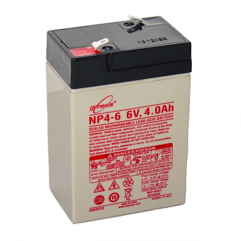 Genesis 6V 4AH Battery Replacement for ADI 25404