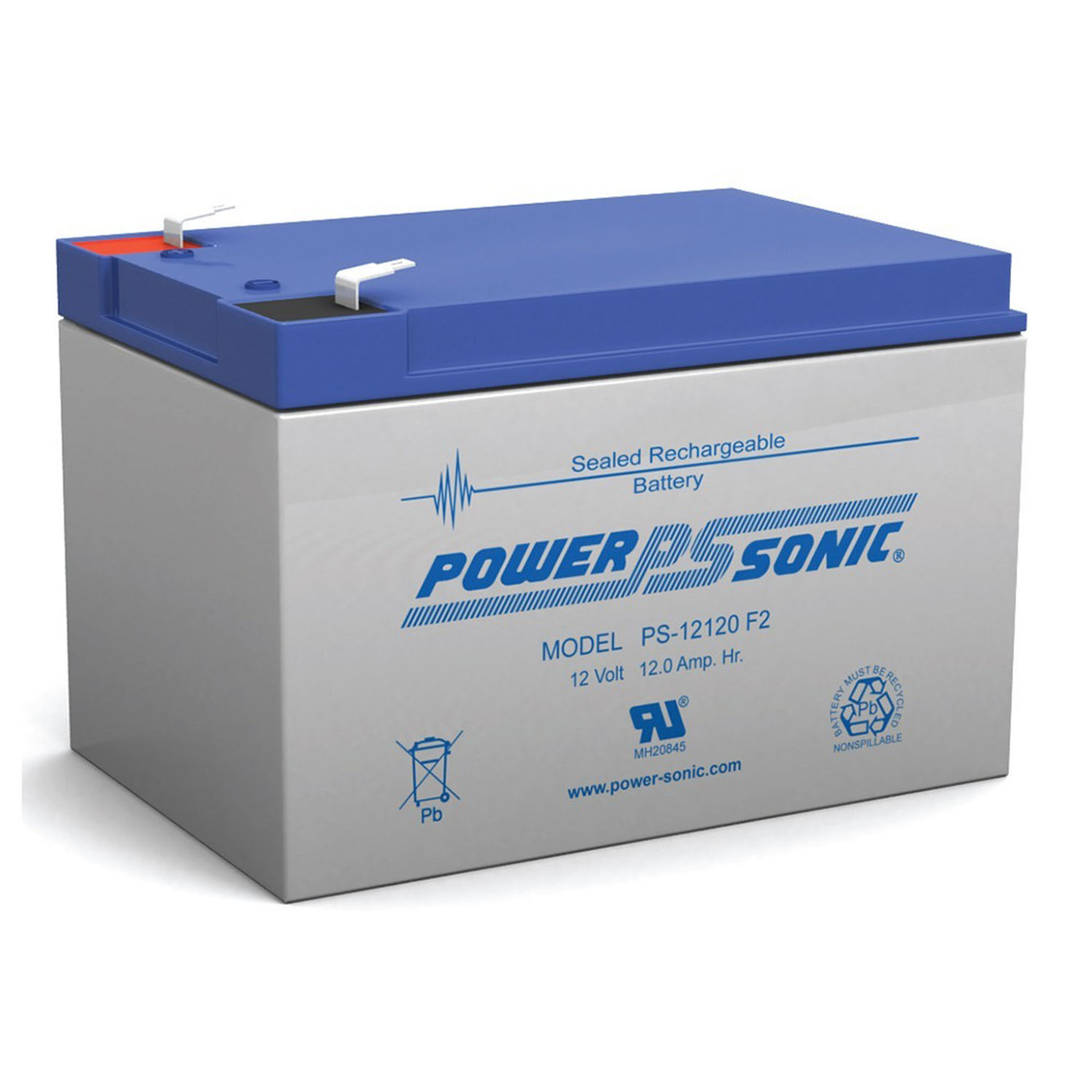 12V 12Ah F2 UPS Battery Replaces Gruber Power GPS12-12, GPS-12-12F2