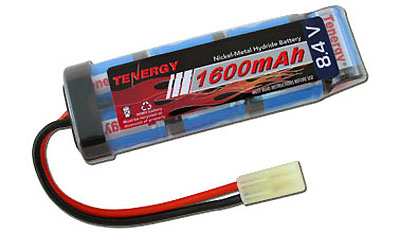 8.4V NiMH 1600mAh Mini Flat - AIRSOFT BATTERY for MP5-A4