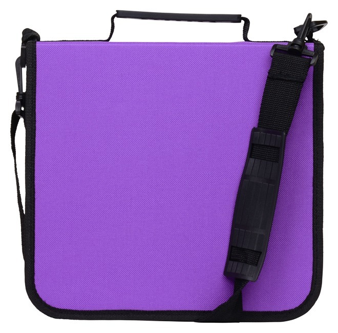 CD Case for Car, 288 Capacity, Hard Case and Lightweight, Purple