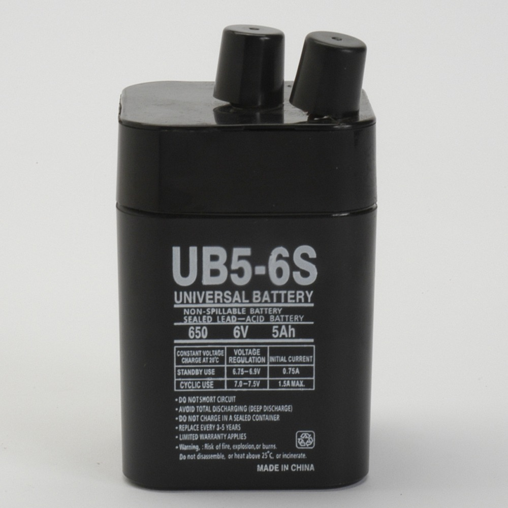 6V 5Ah SLA Replacement Battery for Eveready 1209