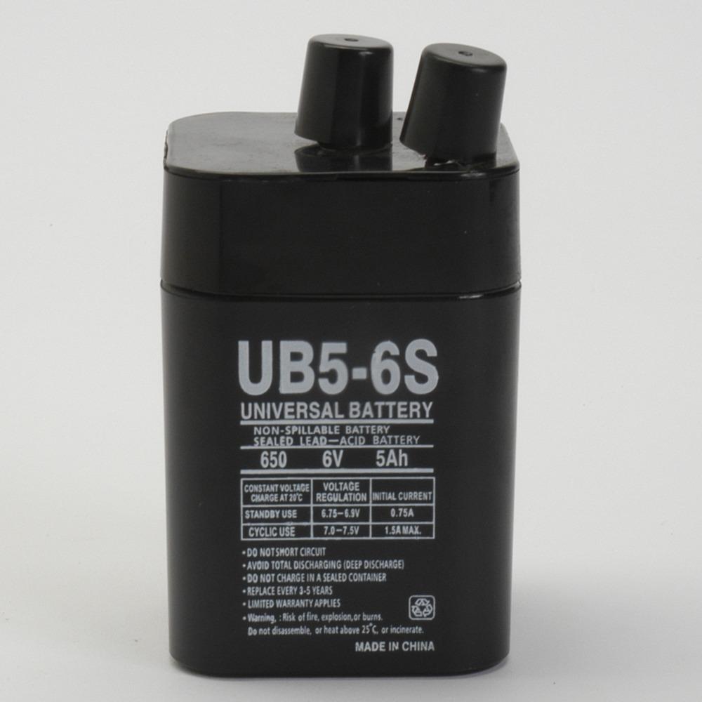6V 5Ah Sealed Lead Acid Battery for Eveready 5109 IND