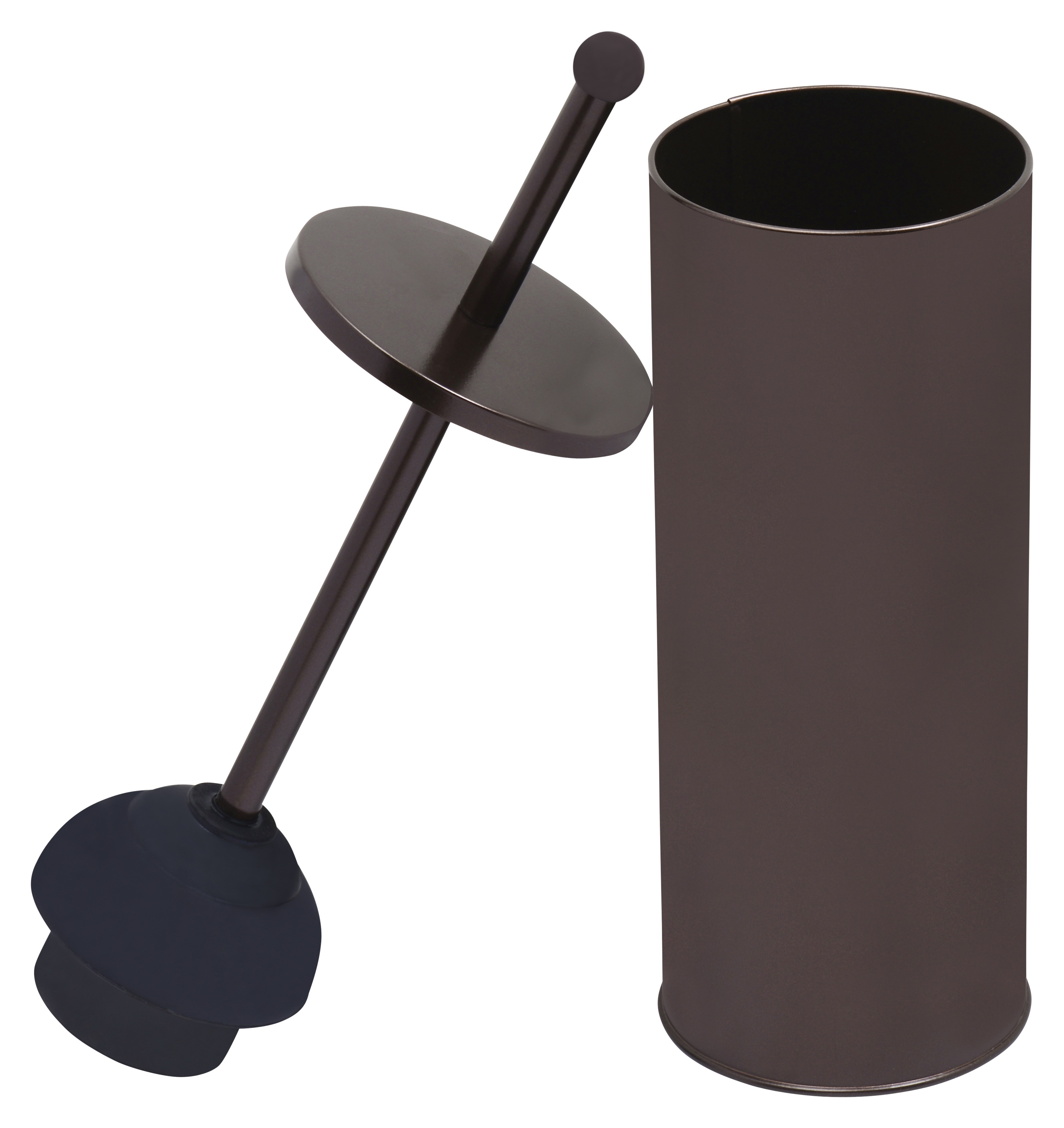 Blue Donuts Toilet Plunger in Bronze Powder Coated Finish