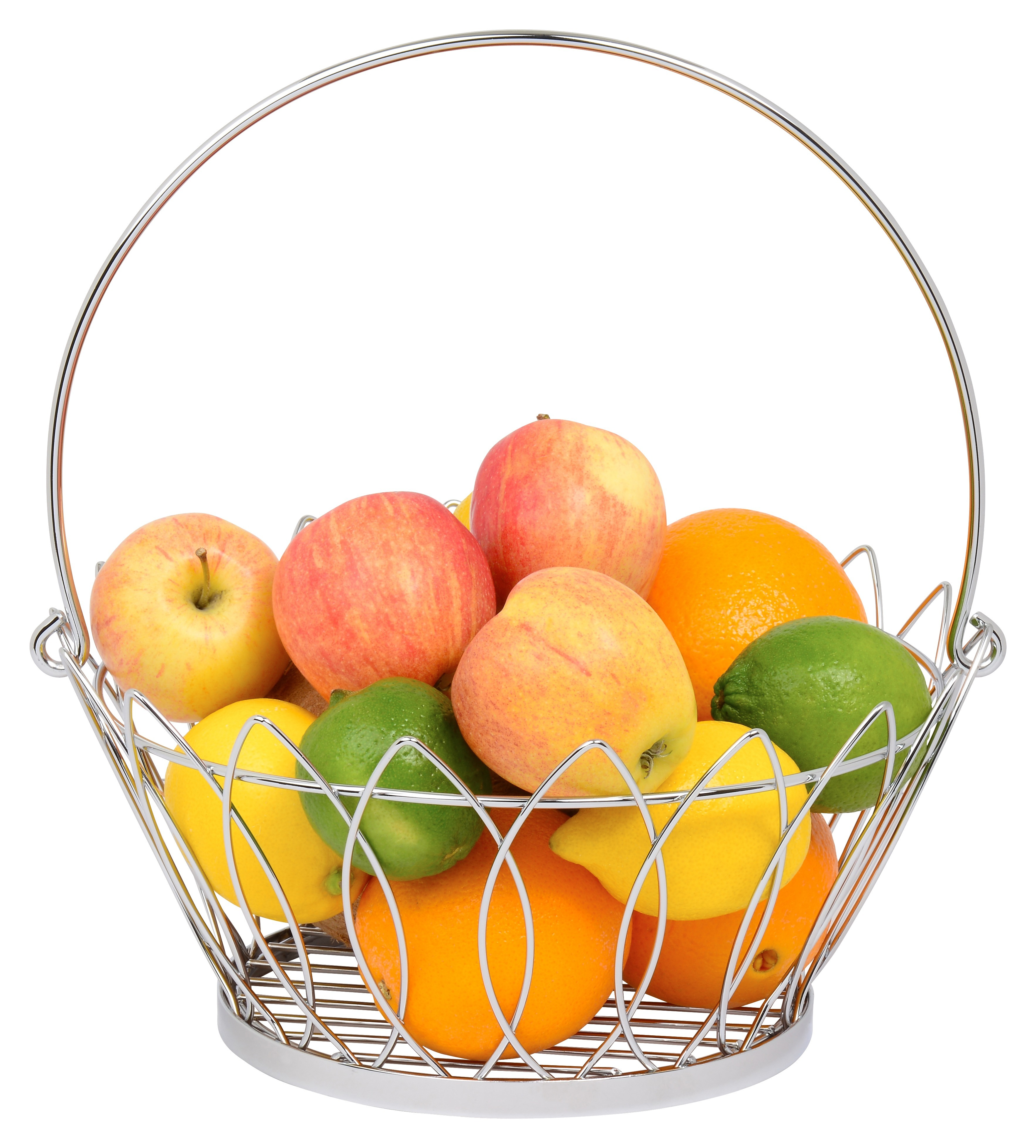 Fruit Bowl - High Quality Stainless Steel with Shiny Chrome Polish