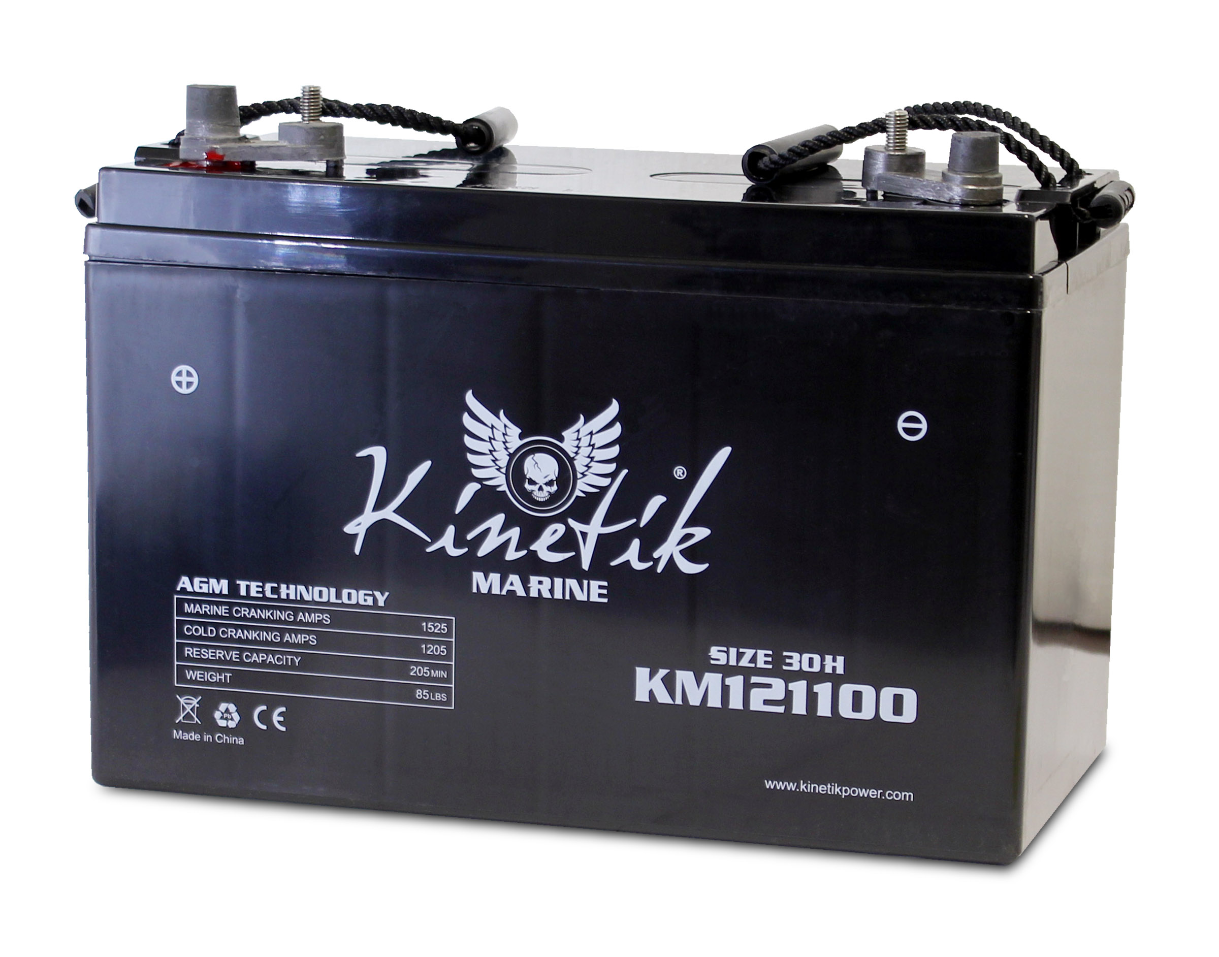 12V 110AH Group 30H Battery for Aquawatt Electric Outboard