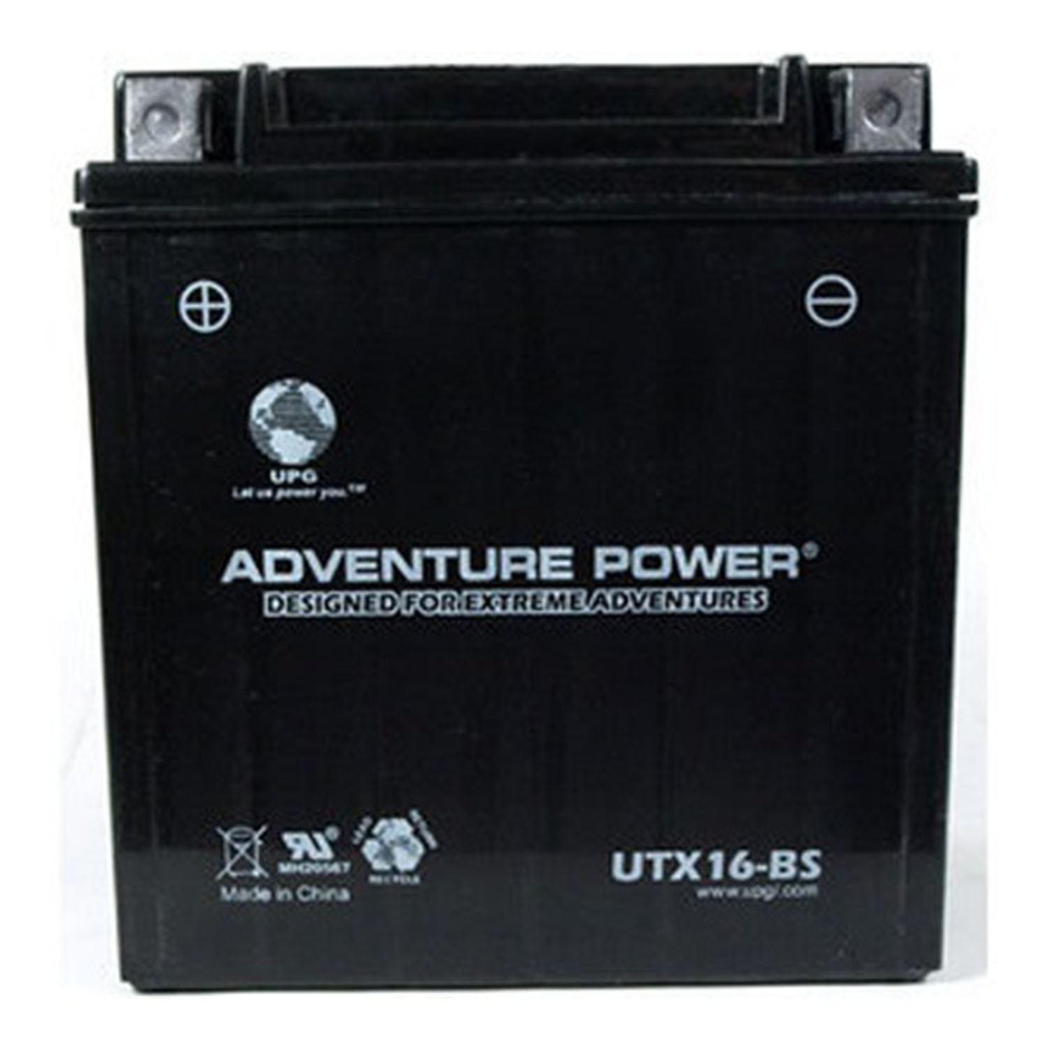 UTX16-BS 12V Battery for Kawasaki VN1500G, J, L, R Drifter '99-05