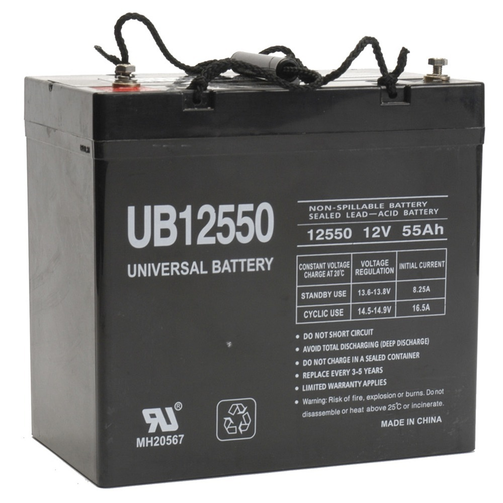 12V 55Ah Sealed Lead Acid Battery Universal UB12550 Group 22NF