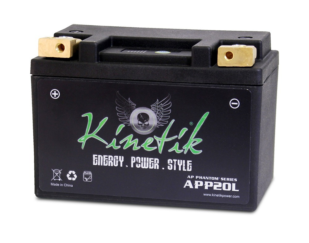 LiFePO4 12V 20-24ah 330,370 CCA PowerSport Battery