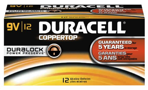 Duracell Coppertop 9V 12 Pack MN1604BKD