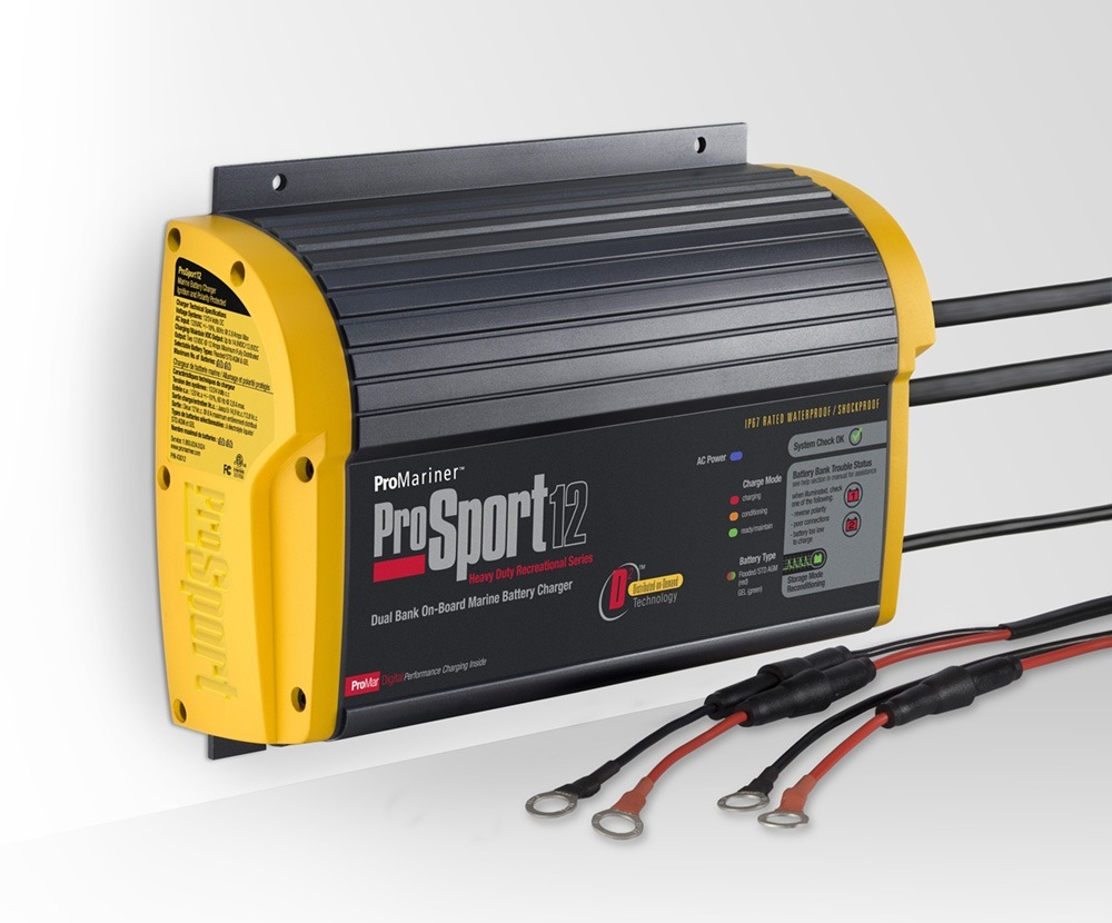 ProMariner ProSport 12 Heavy Duty On-Board Marine Battery Charger 12 Amp 2 Bank Electronics Accessories