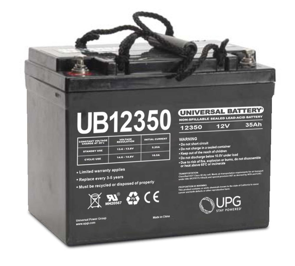 UB12350 12V 35AH SLA Internal Thread Battery for Hillcrest ABX Caddy