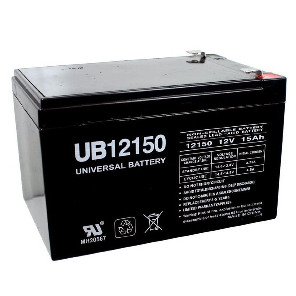 12V 15AH F2 SLA Battery Replacement for Zip'r Zip'r 3w
