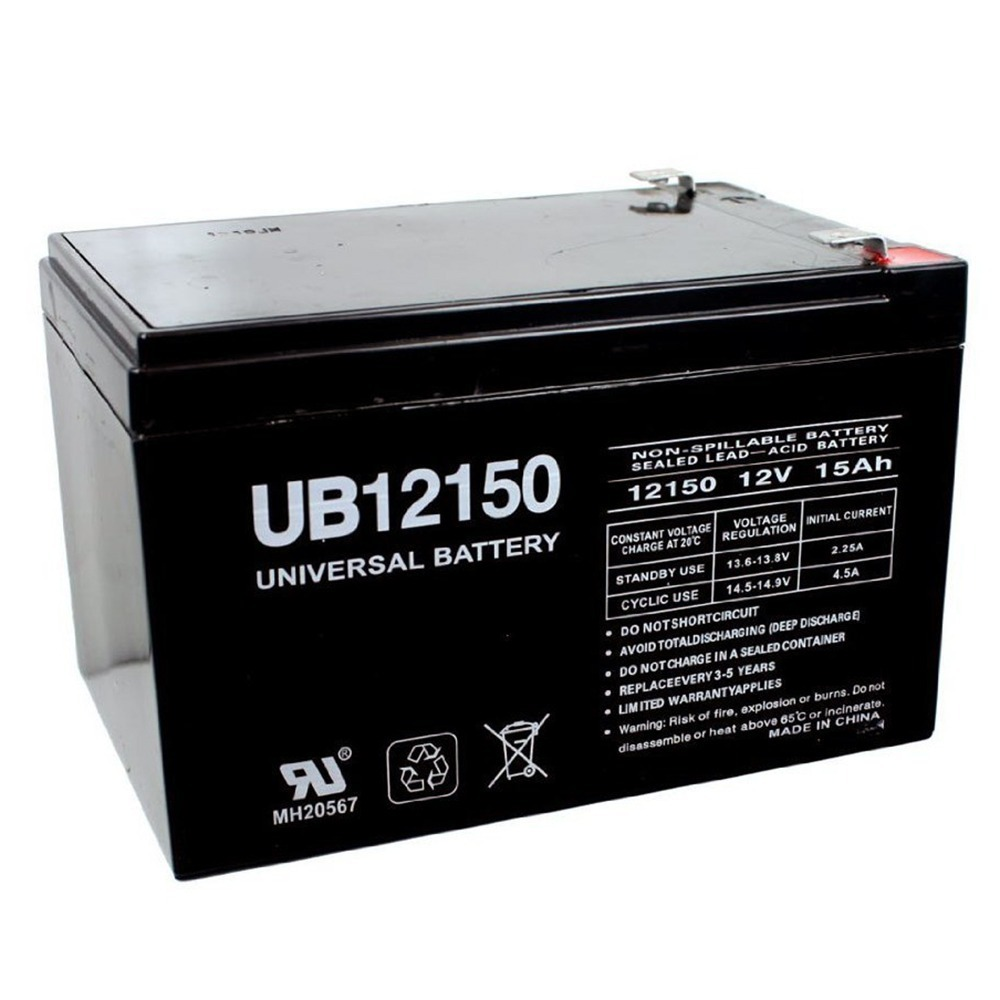 12V 15AH F2 SLA Battery Replacement for Currie Direct Drive 500