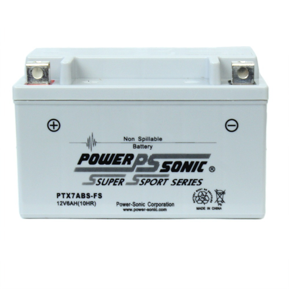 PTX7ABS-FS 12V 6AH Battery Replacement for Aprilia SXV450, SXV550