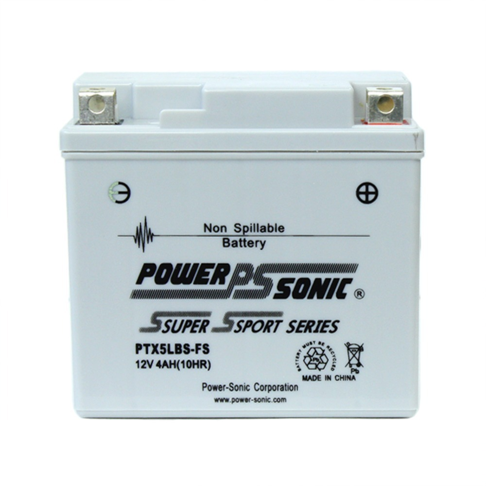 PTX5LBS-FS 12V 4AH Battery Replaces Buell Racing 1125RR, 1125CC 2009
