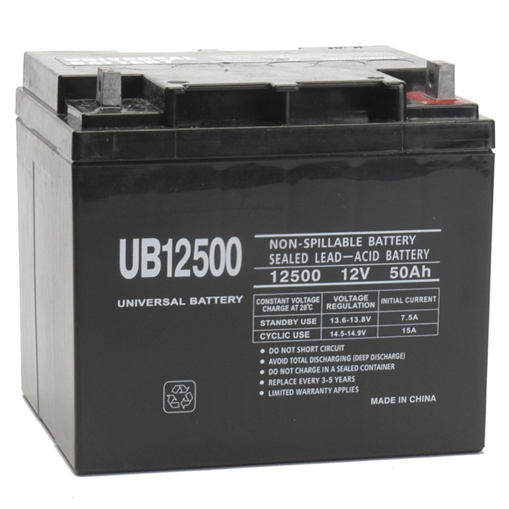 12V 50Ah Replacement Battery for Merits Pioneer 3 S131 Deluxe