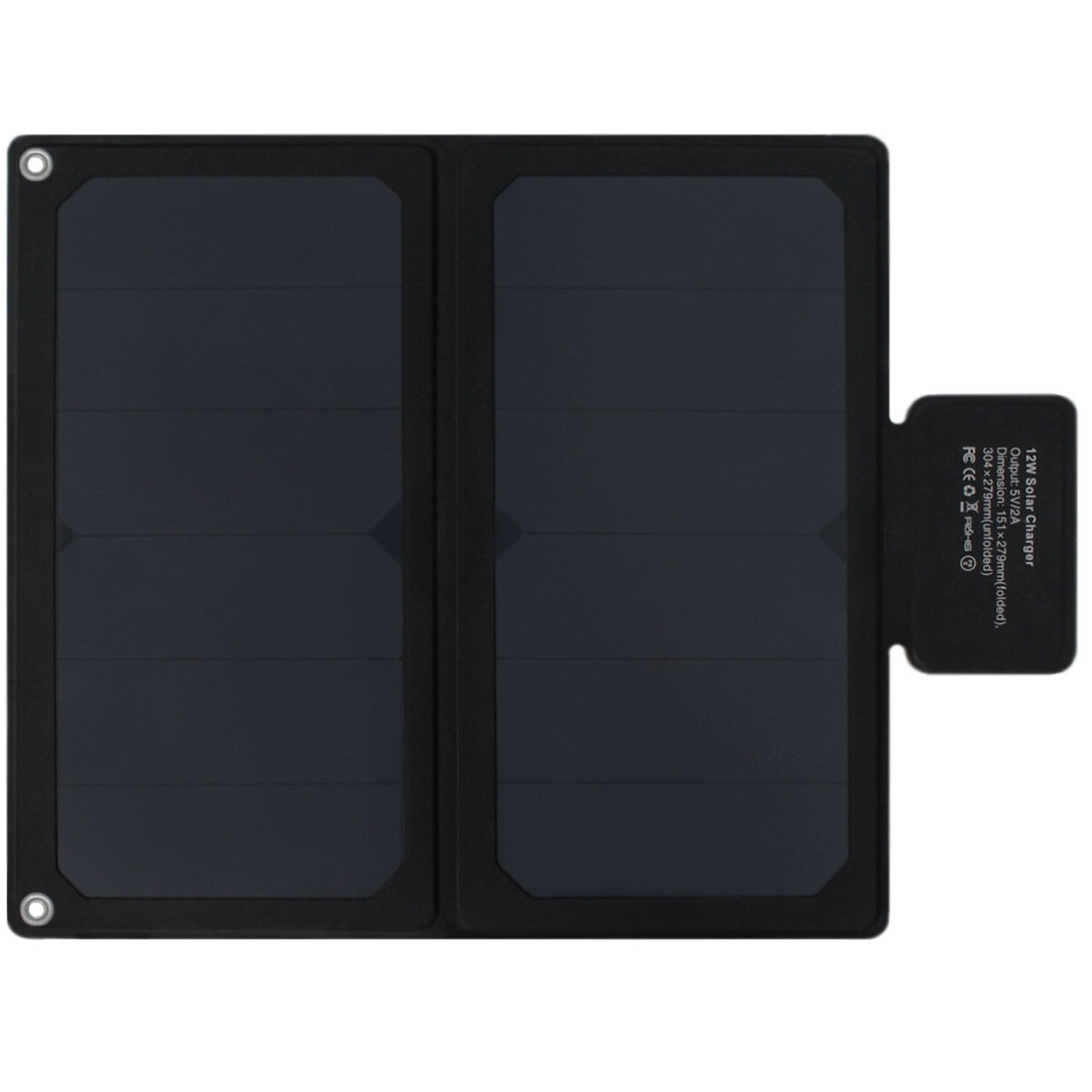 12W Fold up Solar charger with 5V USB Port for iPhone, iPad, iPod
