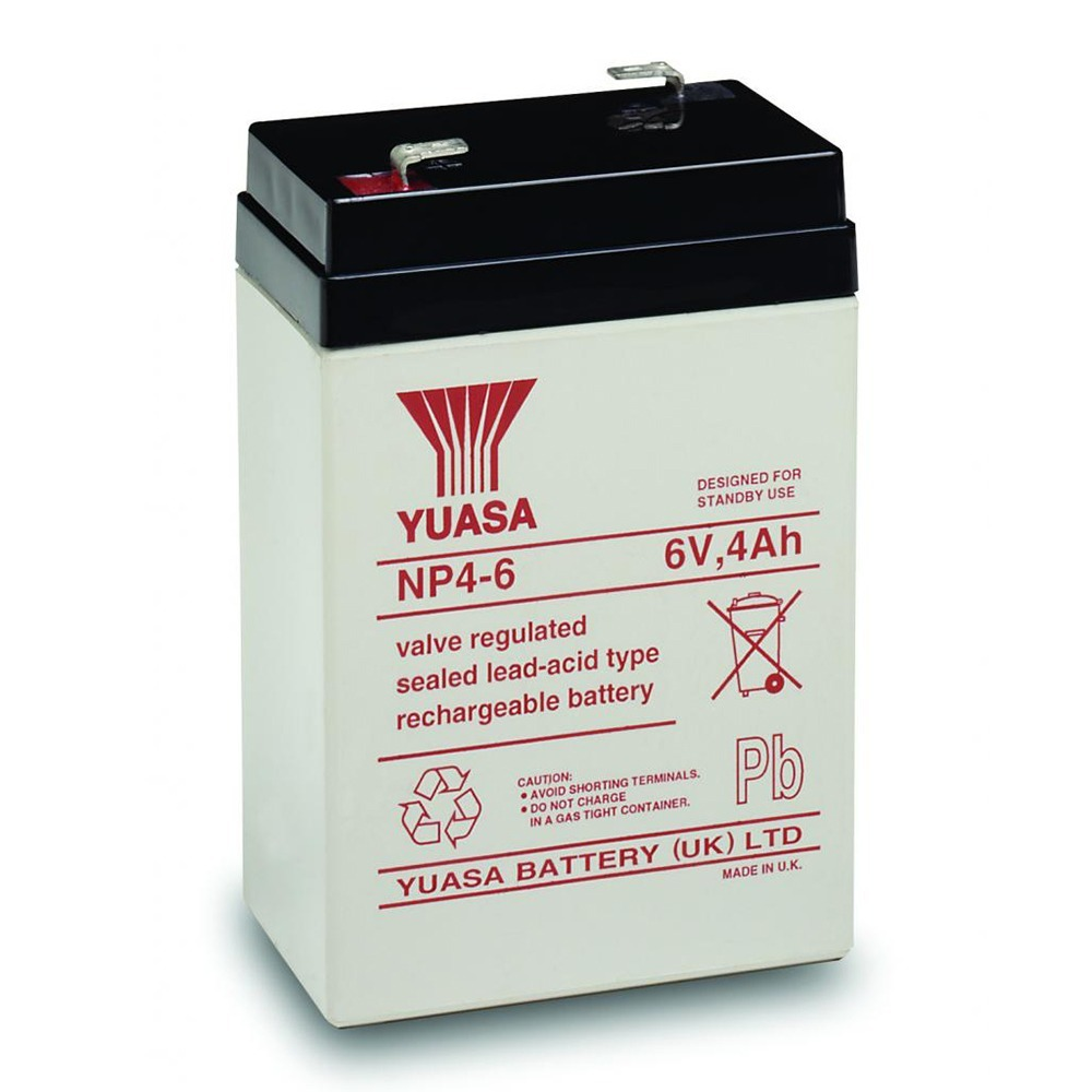 6VOLT 4AH SEALED LEAD ACID BATTERY