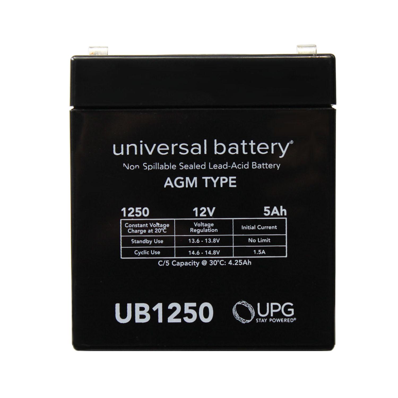 12V 5Ah SLA Alarm Battery Replacement for UltraTech UT1240 ISO9002