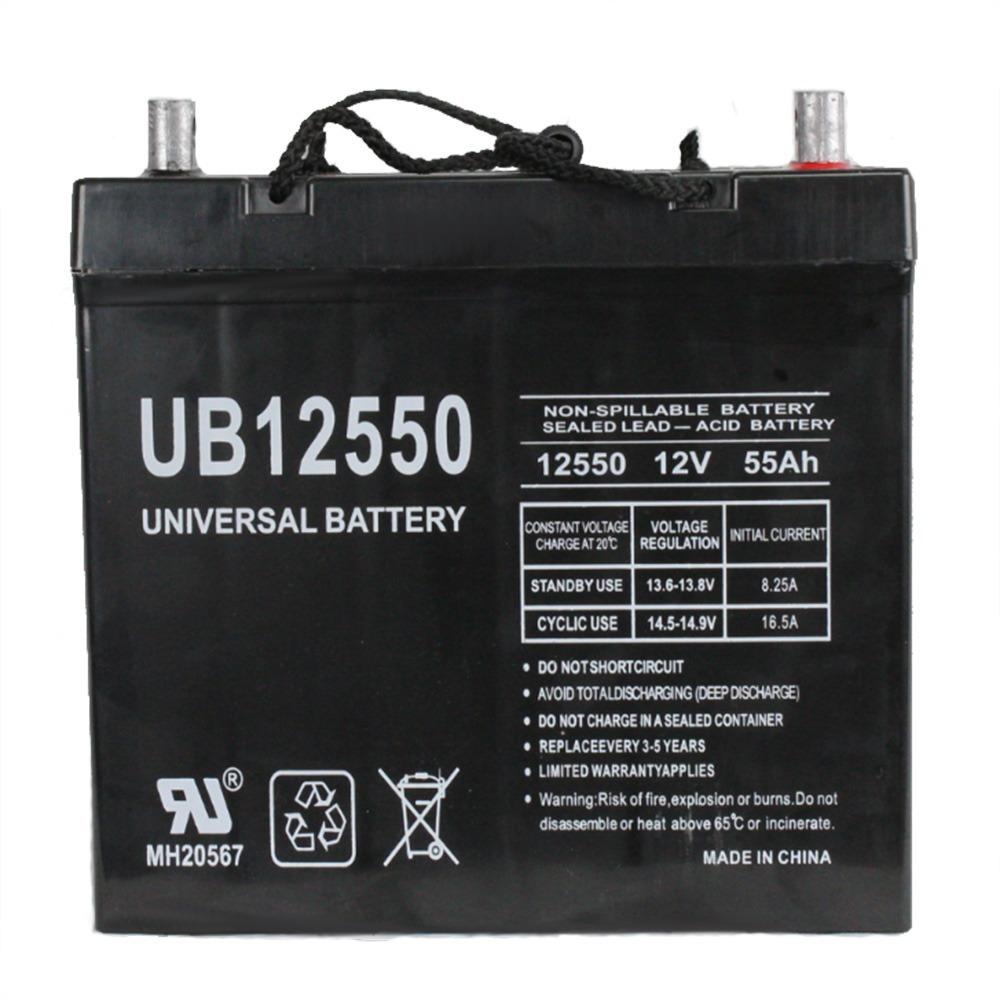 Pride BATLIQ1018 12V 55Ah Sealed AGM Battery Group 22NF