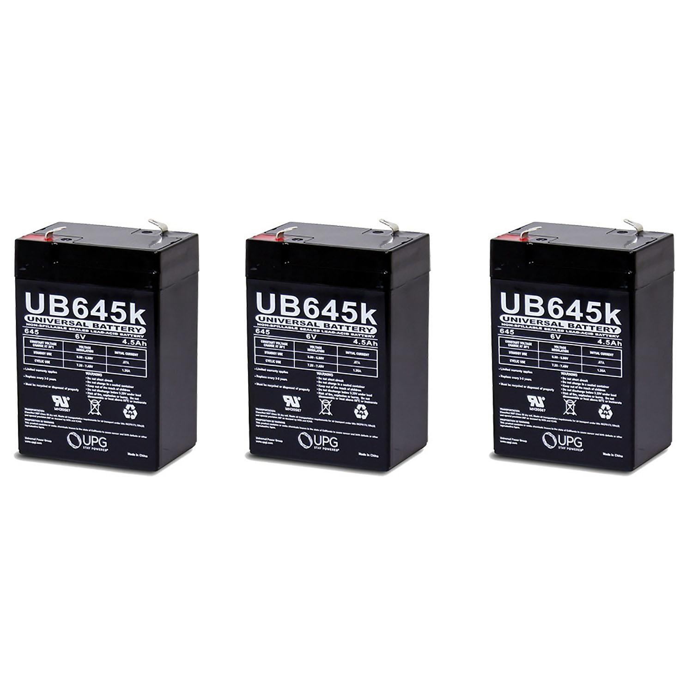 6V 4.5Ah Emergency Exit Lighting SLA Battery - PACK OF 3 BATTERIES
