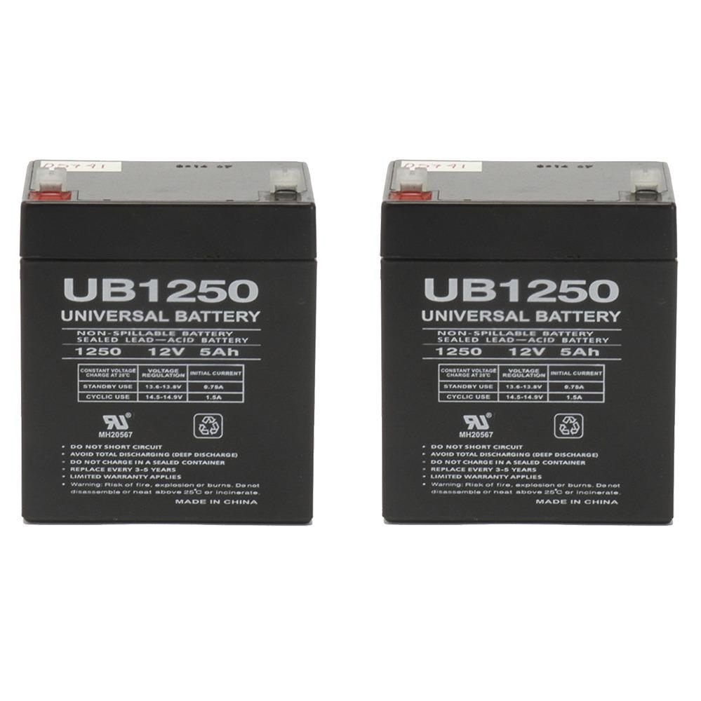 UB1250 12V 5AH Sealed Lead Acid Battery (SLA) .187 TT - 2 Pack