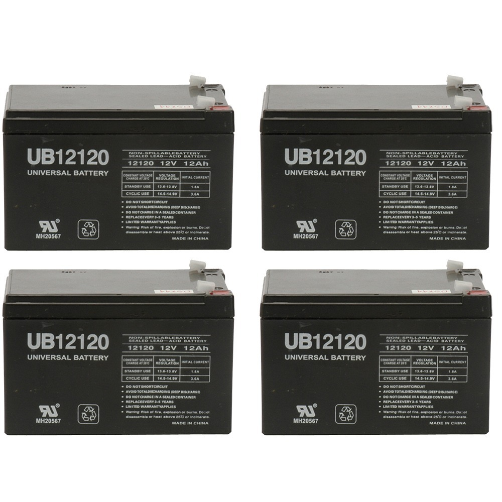 12v 12000 mAh UPS Battery for Drive Medical Phoenix Mobility Chair - 4 Pack