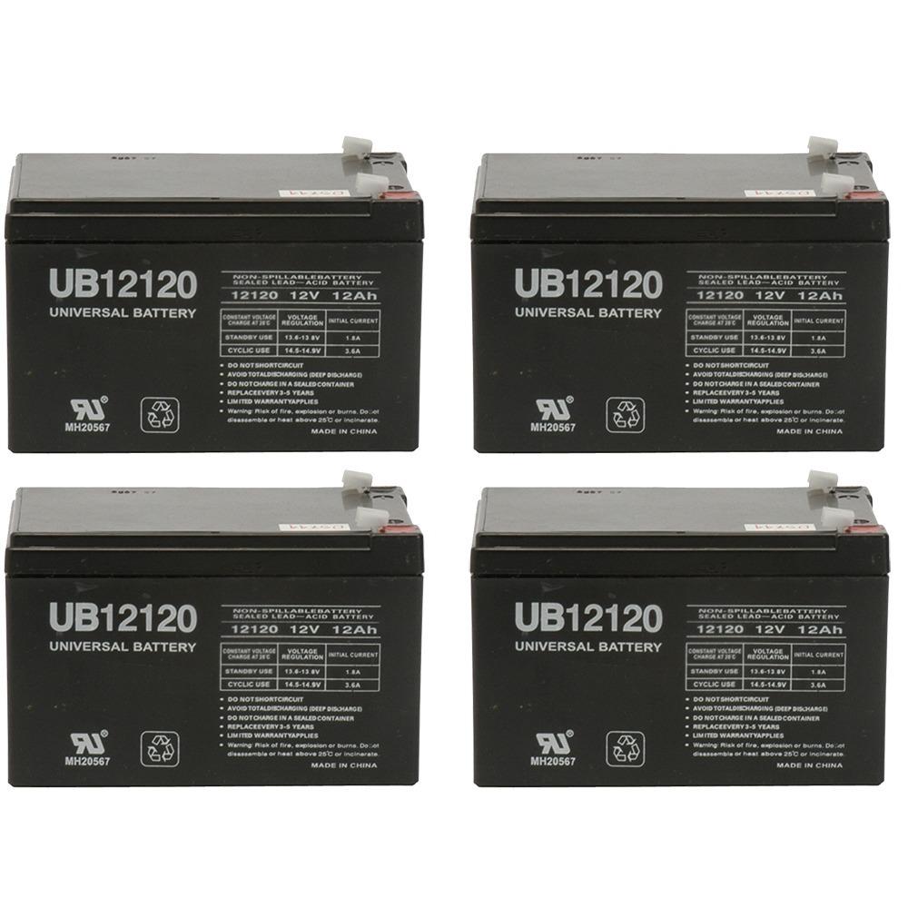UB12120 12V 12AH Sealed Lead Acid Battery (SLA) .187 TT - 4 Pack