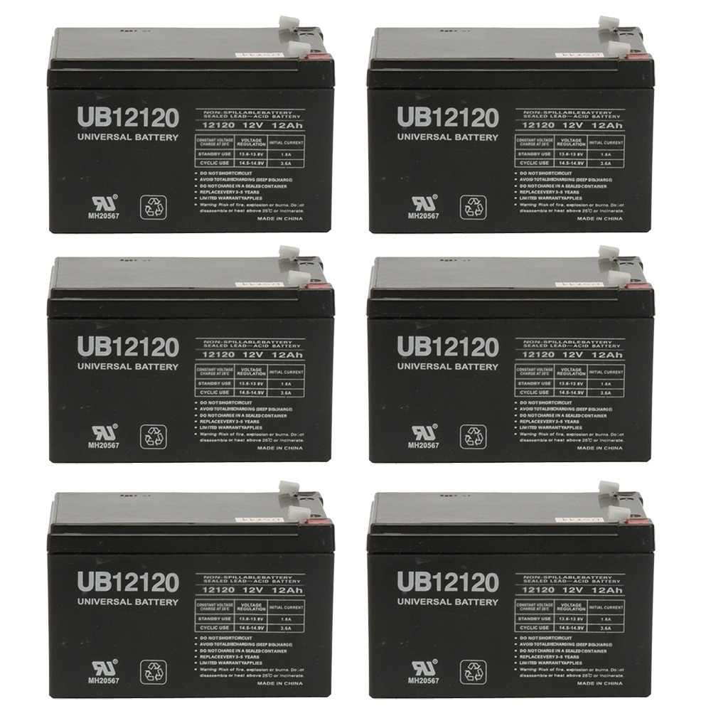 12v 12000 mAh UPS Battery for Drive Medical Phoenix Mobility Chair - 6 Pack