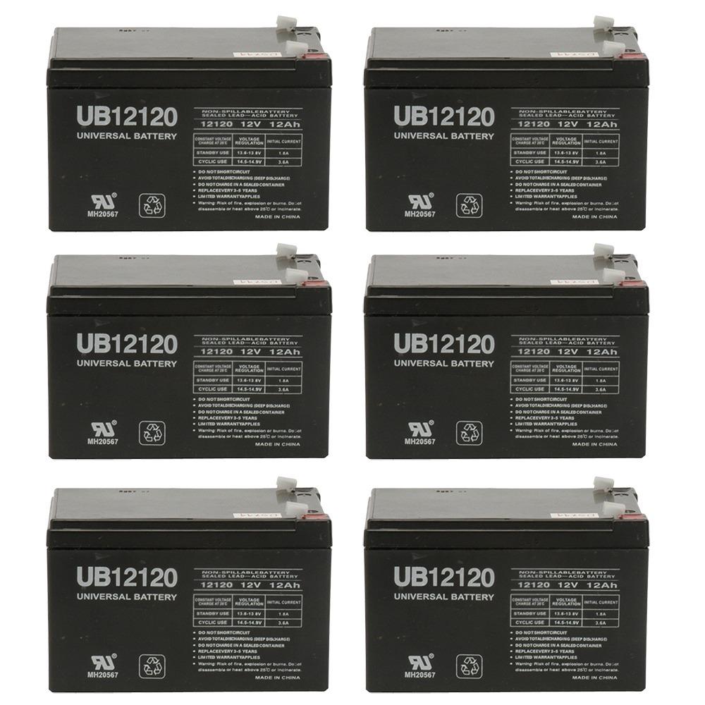 UB12120 12V 12AH Sealed Lead Acid Battery (SLA) .187 TT - 6 Pack