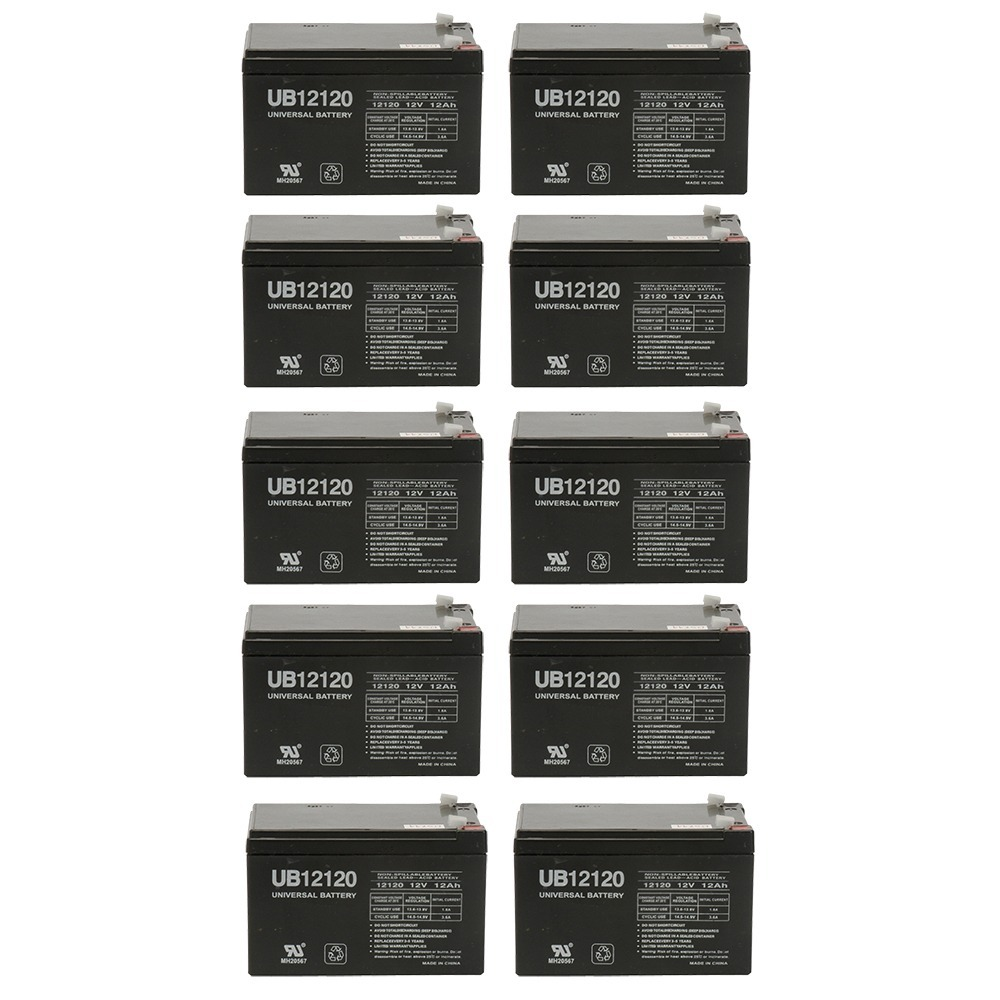 12v 12000 mAh UPS Battery for Drive Medical Phoenix Mobility Chair - 10 Pack