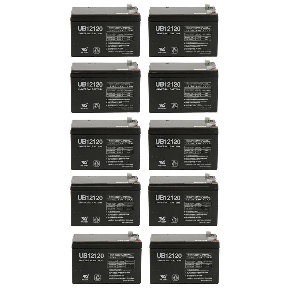 12V 12Ah Compatible Battery for UPS APC BACK-UPS 650 - 10 Pack