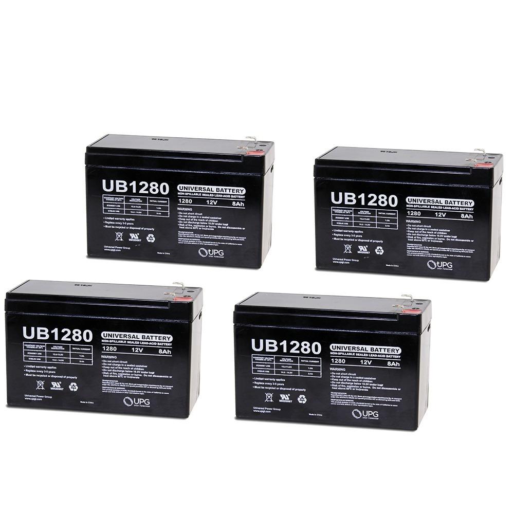 UB1280 12V 8AH Sealed Lead Acid Battery F1 .187 TT - 4 Pack