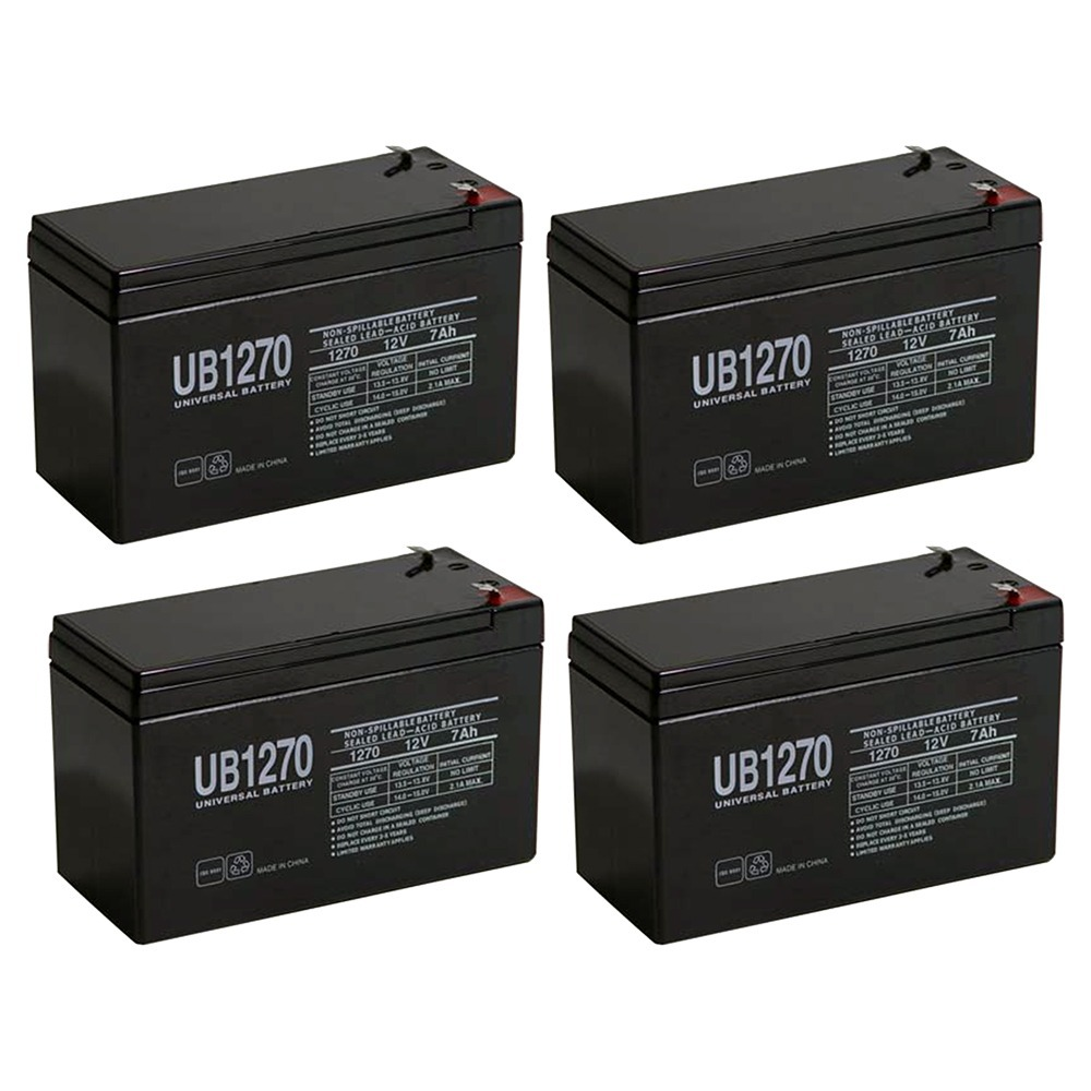 12V 7Ah Compatible Battery for APC Back-UPS ES 550VA - 4 Pack