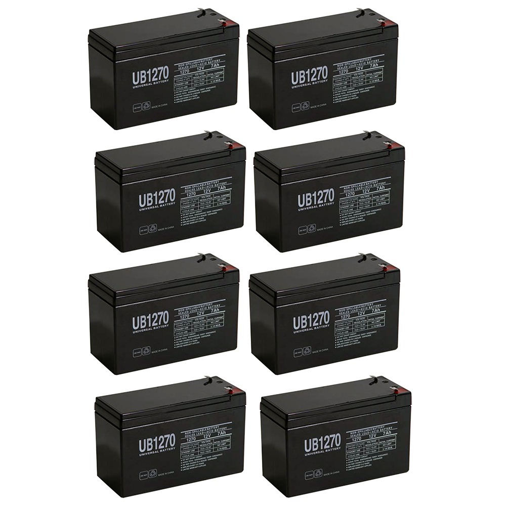 12V 7Ah Compatible Battery for APC Back-UPS ES 550VA - 8 Pack