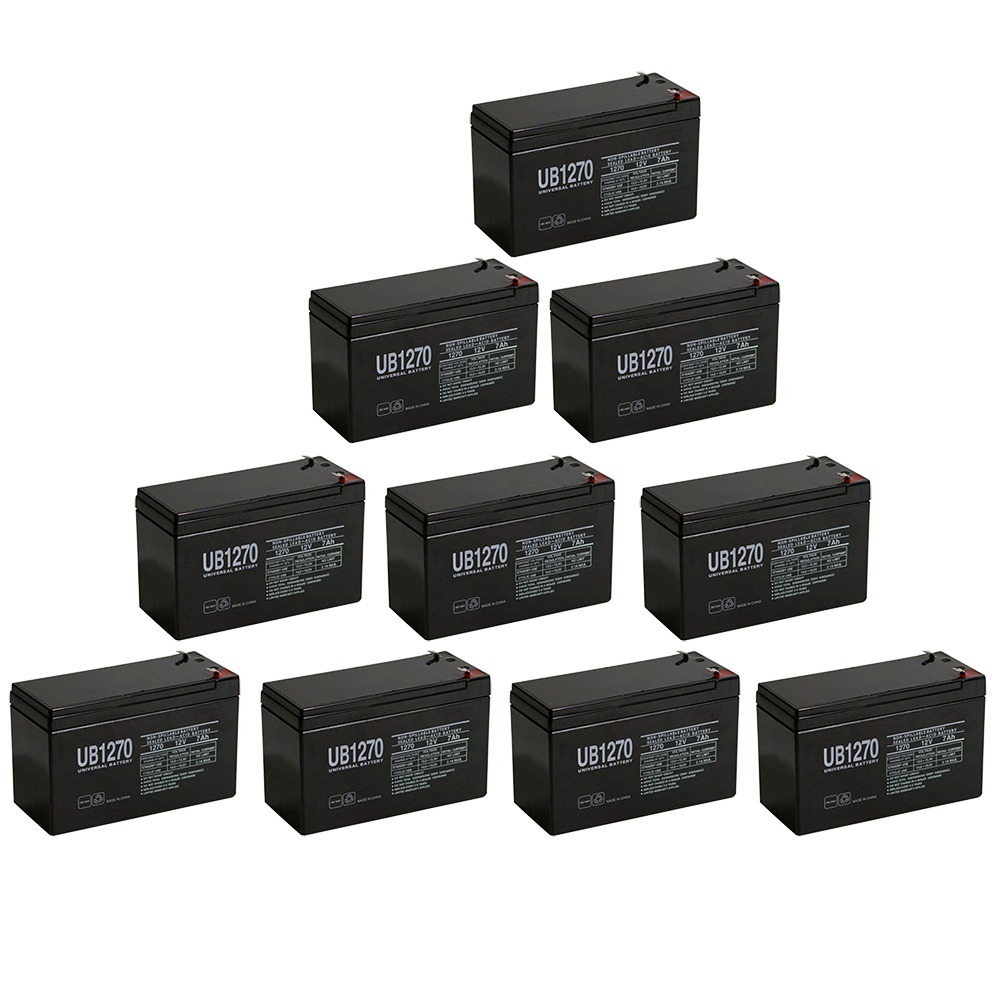 12V 7Ah Compatible Battery for APC Back-UPS ES 550VA - 10 Pack