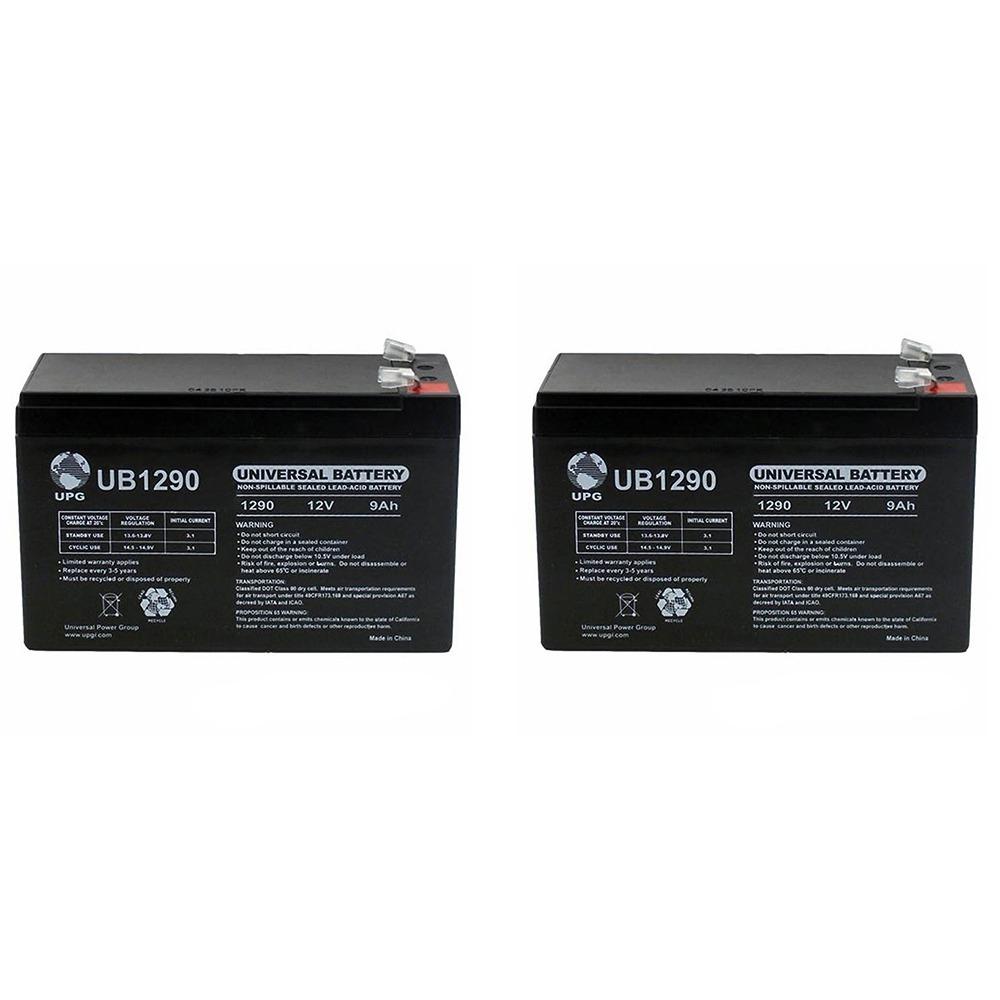 Vision CP1290A - 12.00 Volt 9.00 AmpH SLA Battery  - 2 Pack