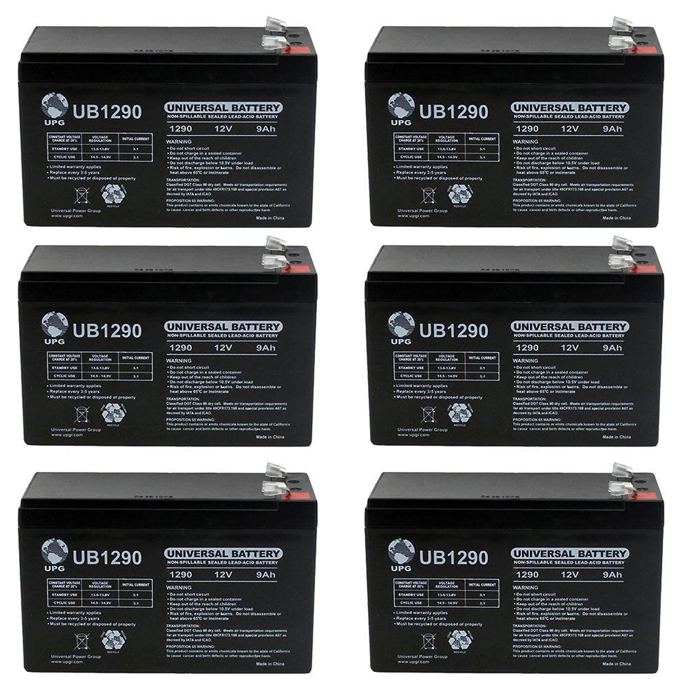 Vision CP1290A - 12.00 Volt 9.00 AmpH SLA Battery  - 6 Pack