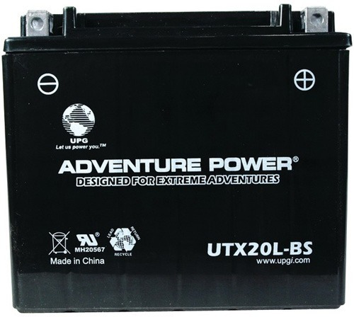 43031 UTX20L-BS, DRY CHARGE AGM POWER SPORTS BATTERY