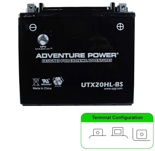 43033 Utx20Hl-Bs, Dry Charge Agm Power Sports Battery